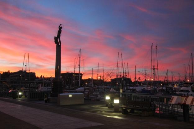 Sunset at Fisherman's Terminal.