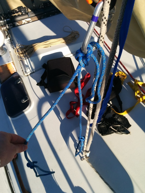 Accessory cord foot loops attached to lower ascender