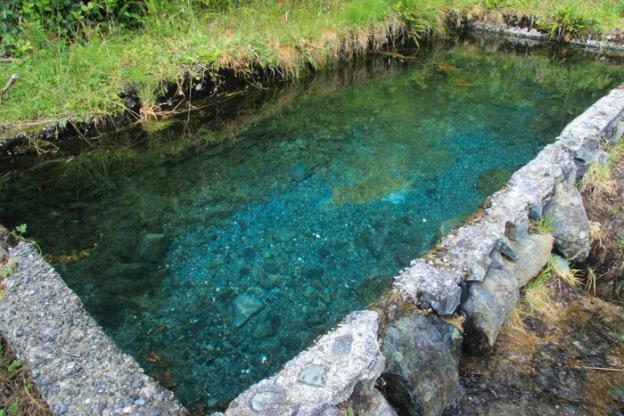 The man-made pool at Matilda Inlet
