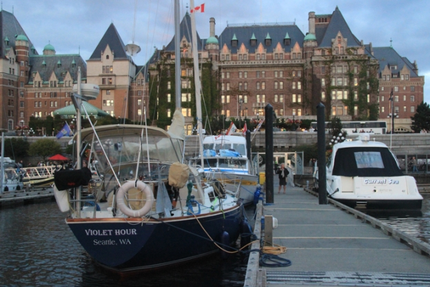 Arrived in Victoria and docked in front of the Empress Hotel