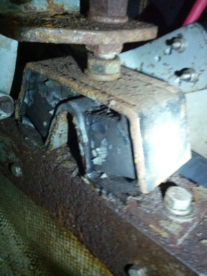 An old engine mount