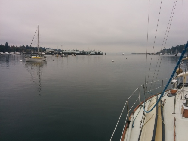 Plenty of room to anchor in Eagle Harbor.