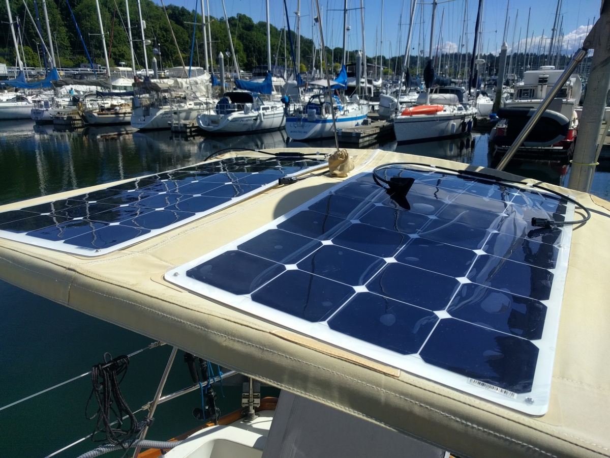 Harnessing The Sun Solar Power On A Sailboat S V Violet Hour Wiring In Cells Might Stop Reflecting Light One Up